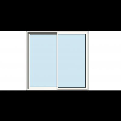 Sapa 2115 2delt skyvedør