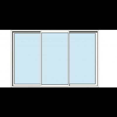 Sapa 2115 3delt skyvedør