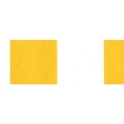 Vindusmarkise m/fjærarm, gule / hvite striper (315-052)