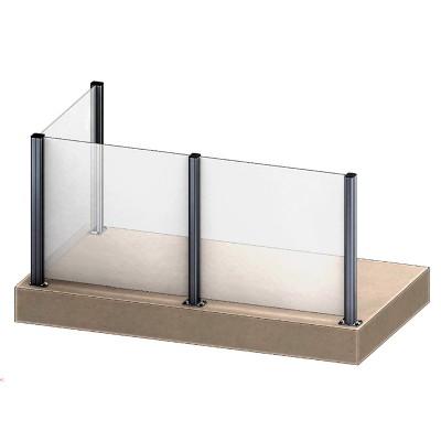 Aluflex Softline AS3 glassrekkverk