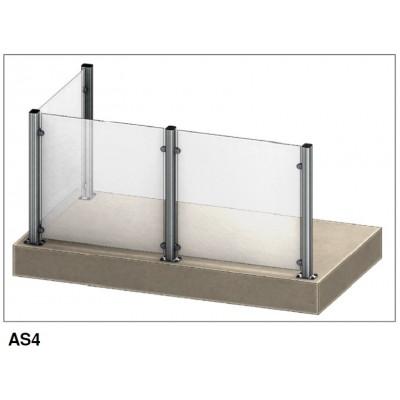 Aluflex Softline AS4 glassrekkverk. Pris fra 2.779,- inkl mva