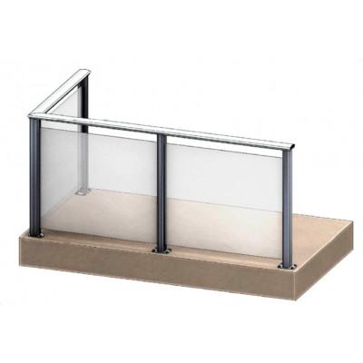 Aluflex Softline AS5 glassrekkverk