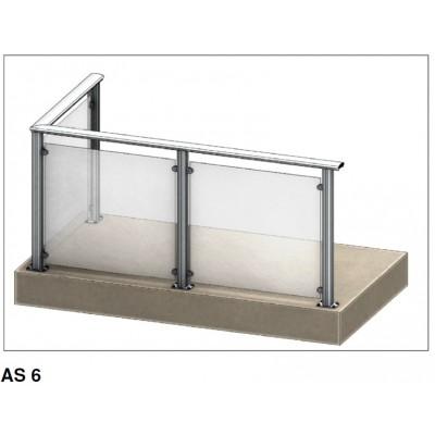 Aluflex Softline AS6 glassrekkverk. Pris fra 2.985,- inkl mva