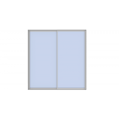 Alusoft-skyvedør (2-spors)