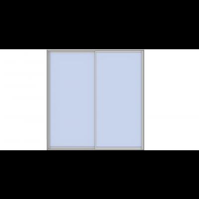 Alu-2 skyvedør (2-spors)