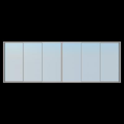 Alu-2-skyvedør (3-spors møtedør)