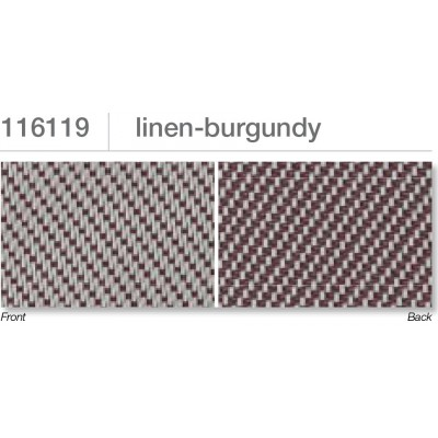 Beaufort ZIP-screen 100 | Linen burgundy